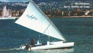 Вот такая лодка с парусом дельтопланом и множеством полезных свойств